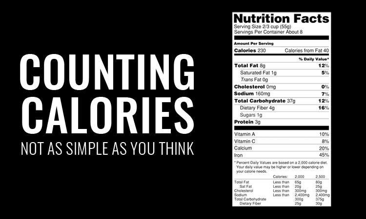 counting calories overestimate
