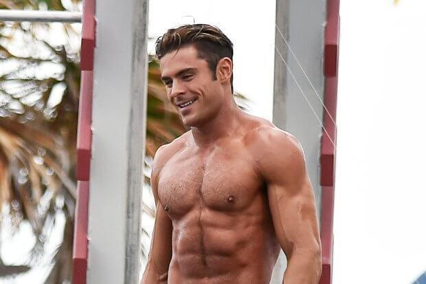 Zac Efron Shirtless training