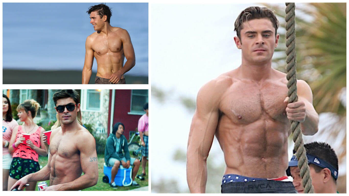 Zac efron workout routine to get jacked how he went from scrawny to zac efron workout baywatch body altavistaventures Gallery